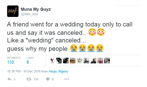 Wedding cancelled after bride refused to take faithfulness oat
