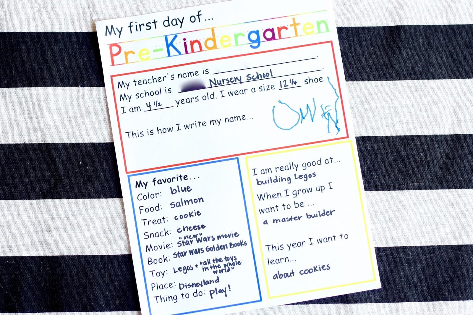 Meet The Sullivans Owen S My First Day Of Pre K