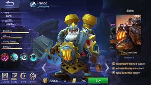 Skin Season 9 Mobile Legends : Franco - Locomotive