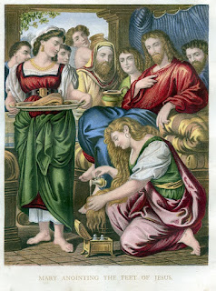 Mary anointing the feet of Jesus