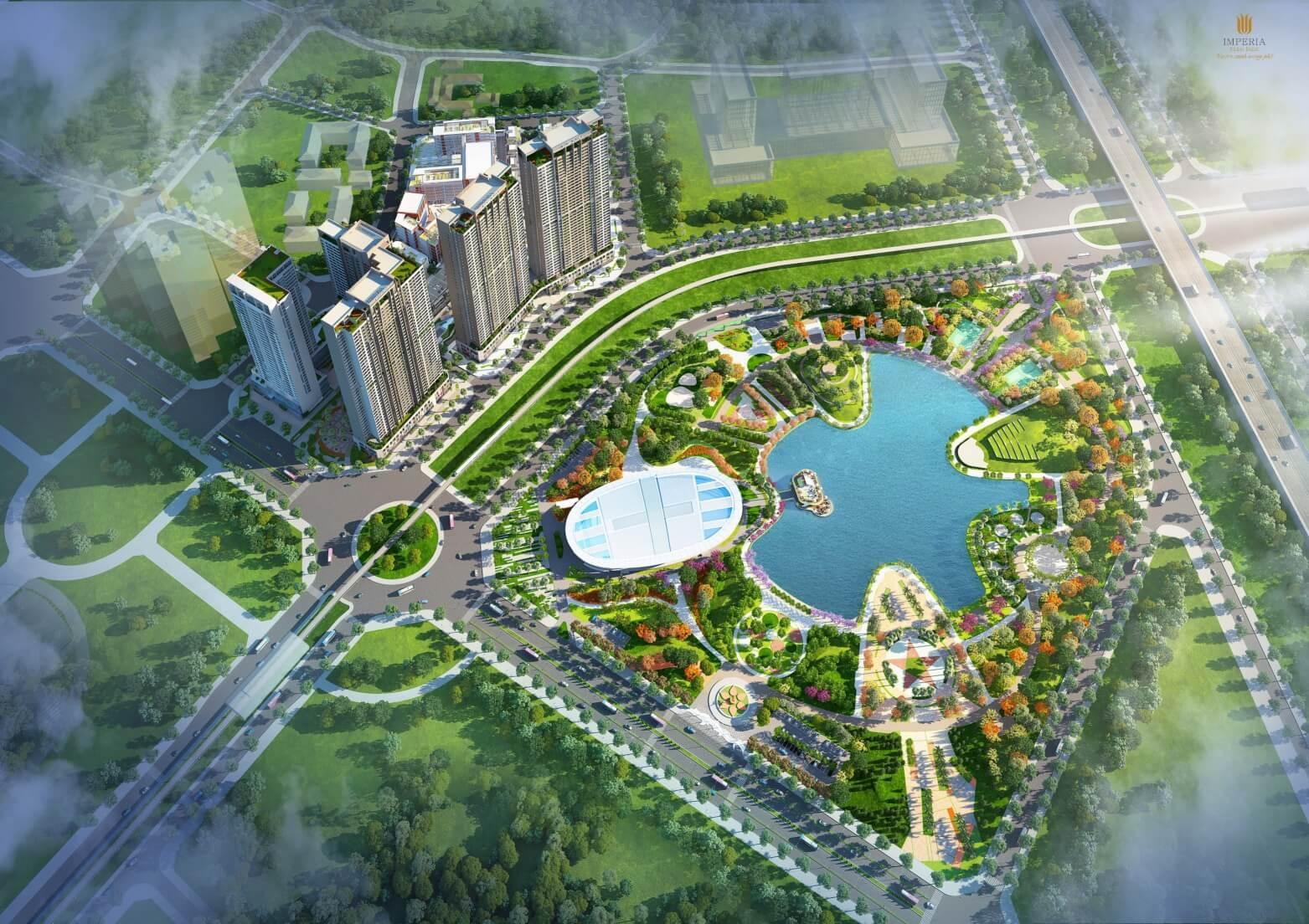 Phối cảnh dự án chung cư Imperia Eden Park