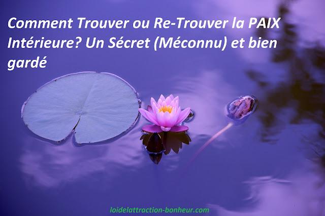 comment trouver la paix intérieure, trouver la paix de l'esprit, trouver la paix intérieure pdf,