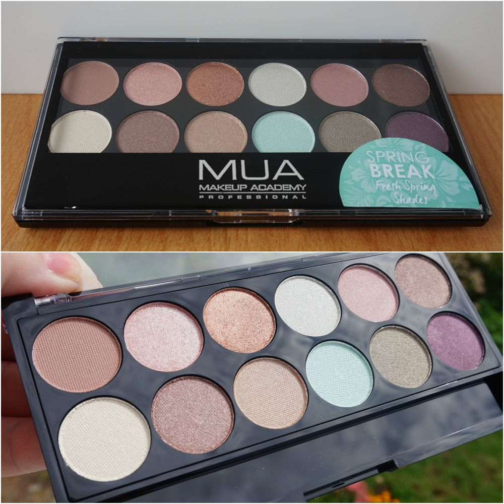MUA SPRING BREAK EYESHADOW PALETTE SWATCHES
