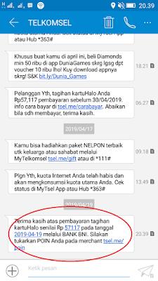 Cara Mudah Bayar Tagihan Telkomsel KartuHalo dengan MBanking