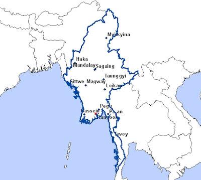 Les sites incontournables sur la carte de la Birmanie