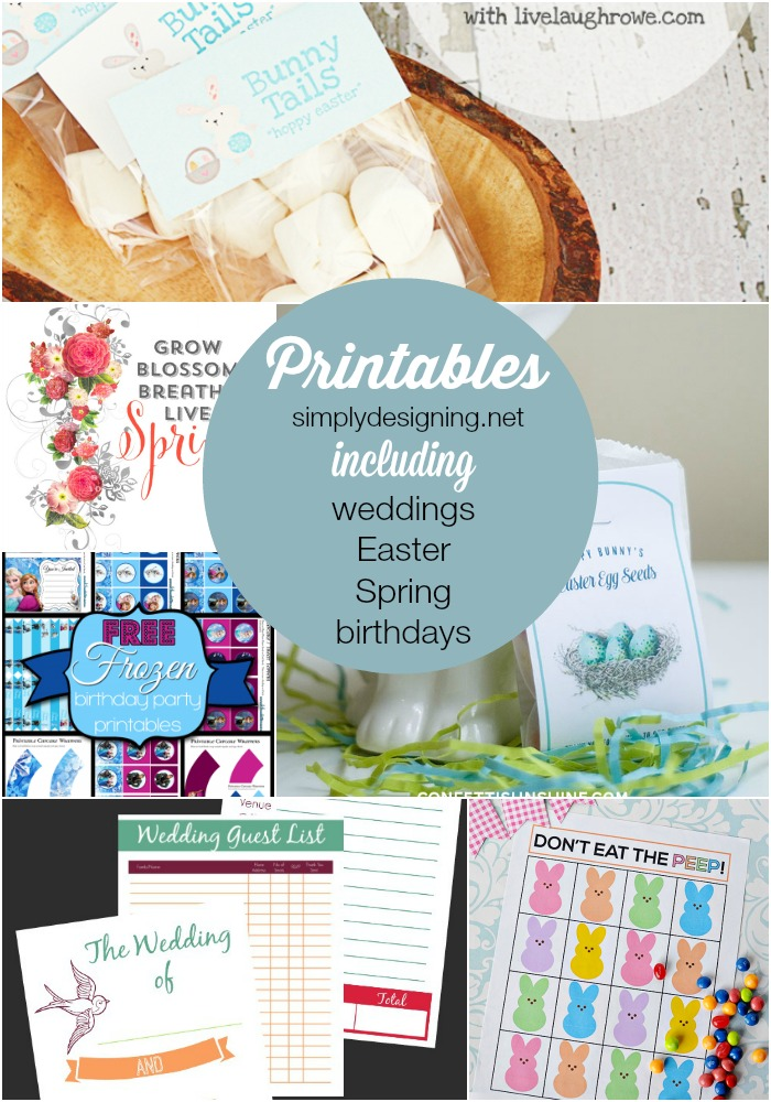 The Best Wedding, Easter, Spring, Birthday and more Printables | find some of the best printables perfect for spring!  This round-up includes printables for springs, organization, Easter, Father's and Mother's Day, Teacher Appreciation, Weddings and Birthdays!  | #printables #freeprintables #wedding #easter #birthday #mothersday #fathersday #spring