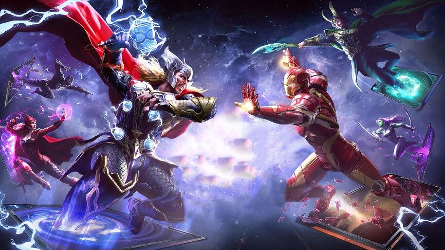 Thor vs. Iron Man, Marvel Duel, 4K, #7.1542