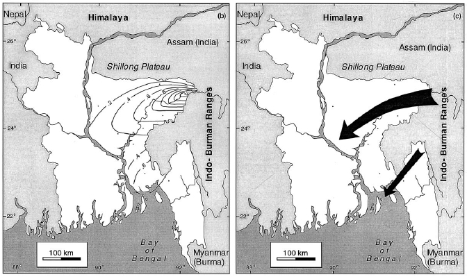 Rapid Uplift Sedimentation Patterns Bay Of Bengal How Old Is The