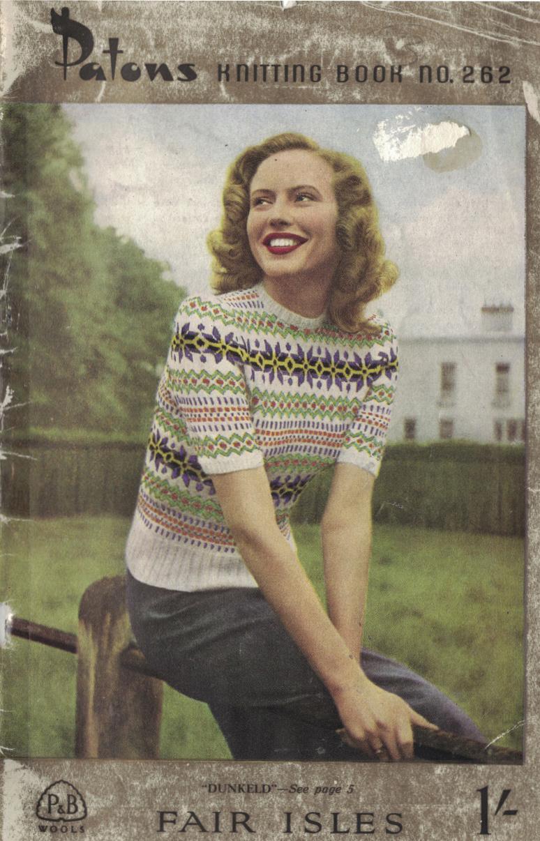 The Vintage Pattern Files: 1940s Knitting - Women\'s Scottish Fair ...