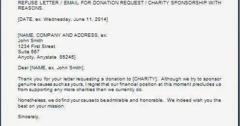 Refusal Letter For Sponsorship