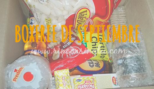 boxfree sin gluten del mes de septiembre