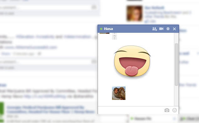 Profile Image as Facebook Emoticon