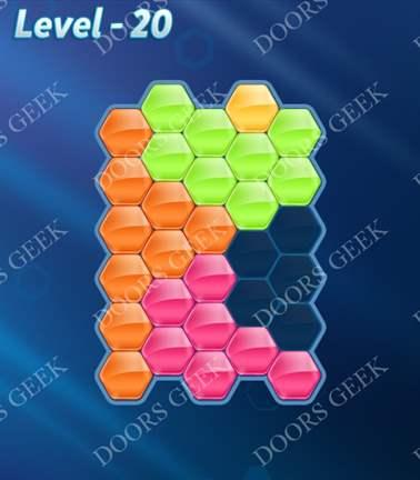 Block! Hexa Puzzle [5 Mania] Level 20 Solution, Cheats, Walkthrough for android, iphone, ipad, ipod