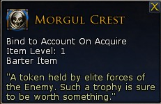 Lotro tier 8 essences Morgul Crest