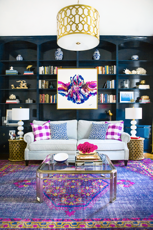 Attractive Navy Blue + Purple Home Decor Inspiration