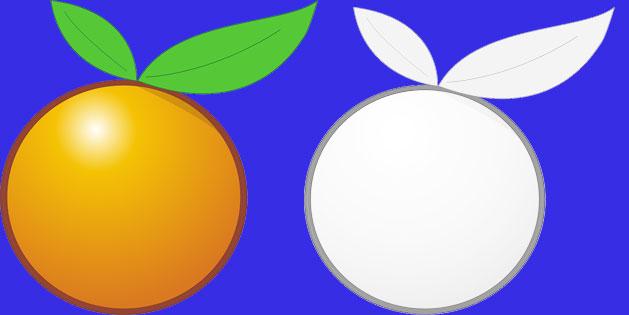 mewarnai buah jeruk