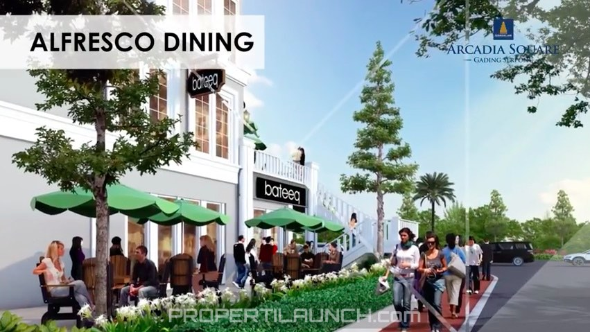 Alfresco Dining @ Arcadia Square Serpong