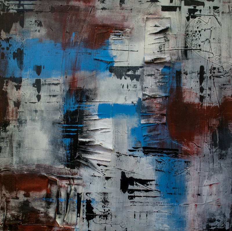 Abstract Paintings by Ella Marciello form Turin, Italy.