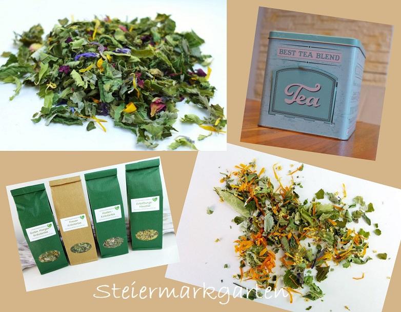 Teemischung-Collage-Steiermarkgarten