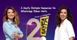2. sayfa iletişim numarası ve whatsapp ihbar hattı