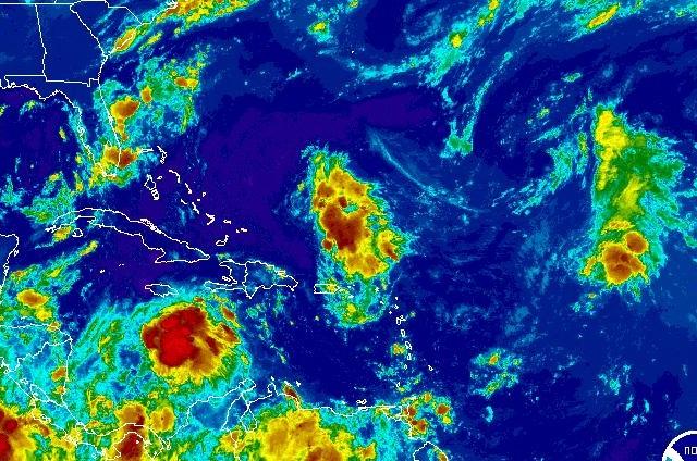 Invest 92L NOAA GOES Satellite Image