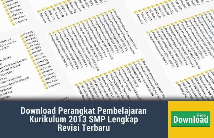 Download Perangkat Pembelajaran Kurikulum 2013 SMP Lengkap Revisi Terbaru