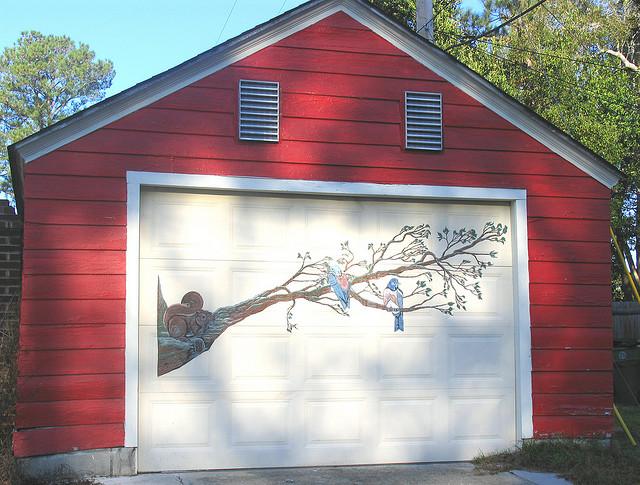 Decorating Diva Tips: Paint A Mural on Your Garage Door ... on Garage Door Paint Ideas  id=37428