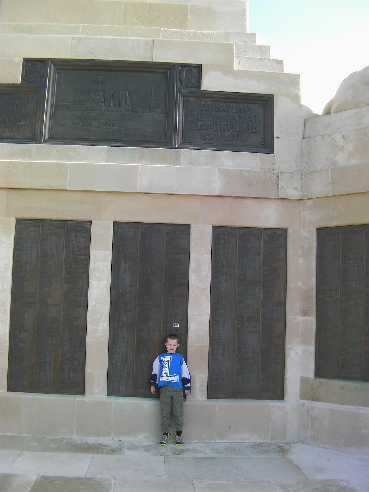 bronze panels lists of names of the fallen of both world wars