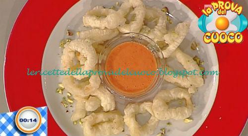 Calamari fritti in pastella di pistacchi ricetta Bertol da Prova del Cuoco