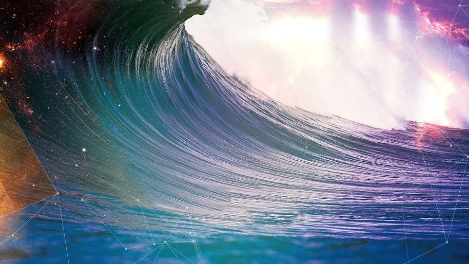 Ocean Waves Abstract 4k Wallpaper 74