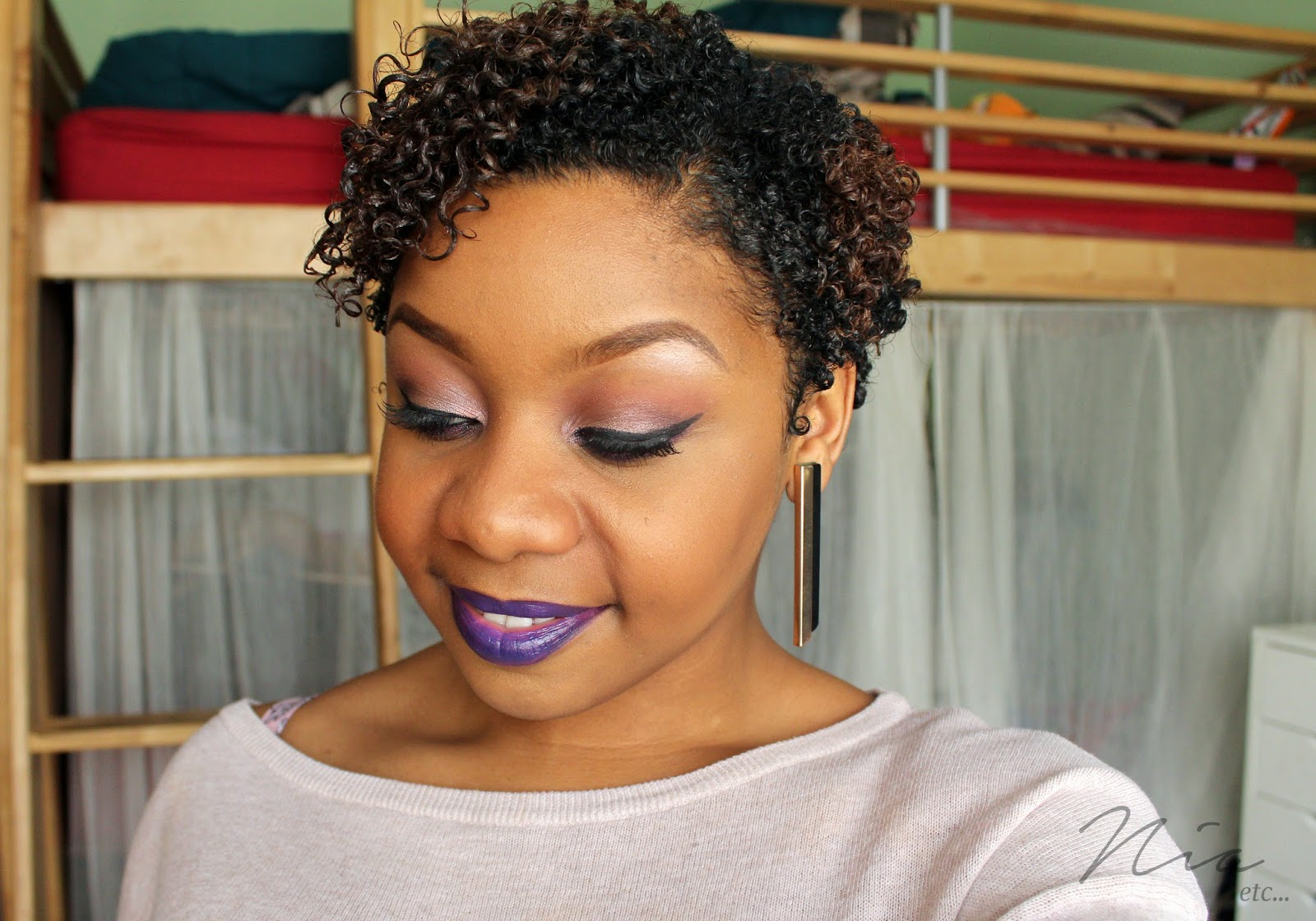 Pretty in Purple Make Up Look 1