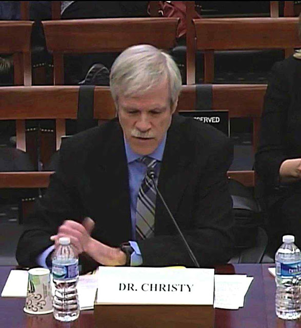 O Dr John Christy depondo no House Science Committee, no Congresso americano, 02-02-2016
