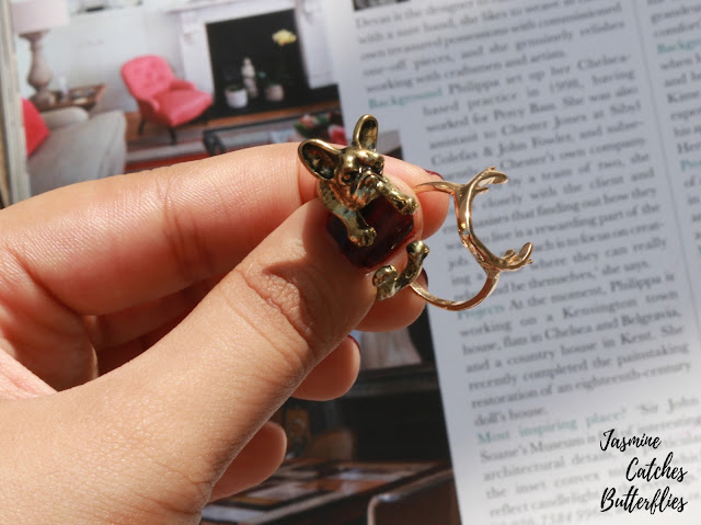 Bull Dog Ring and Antlers Ring