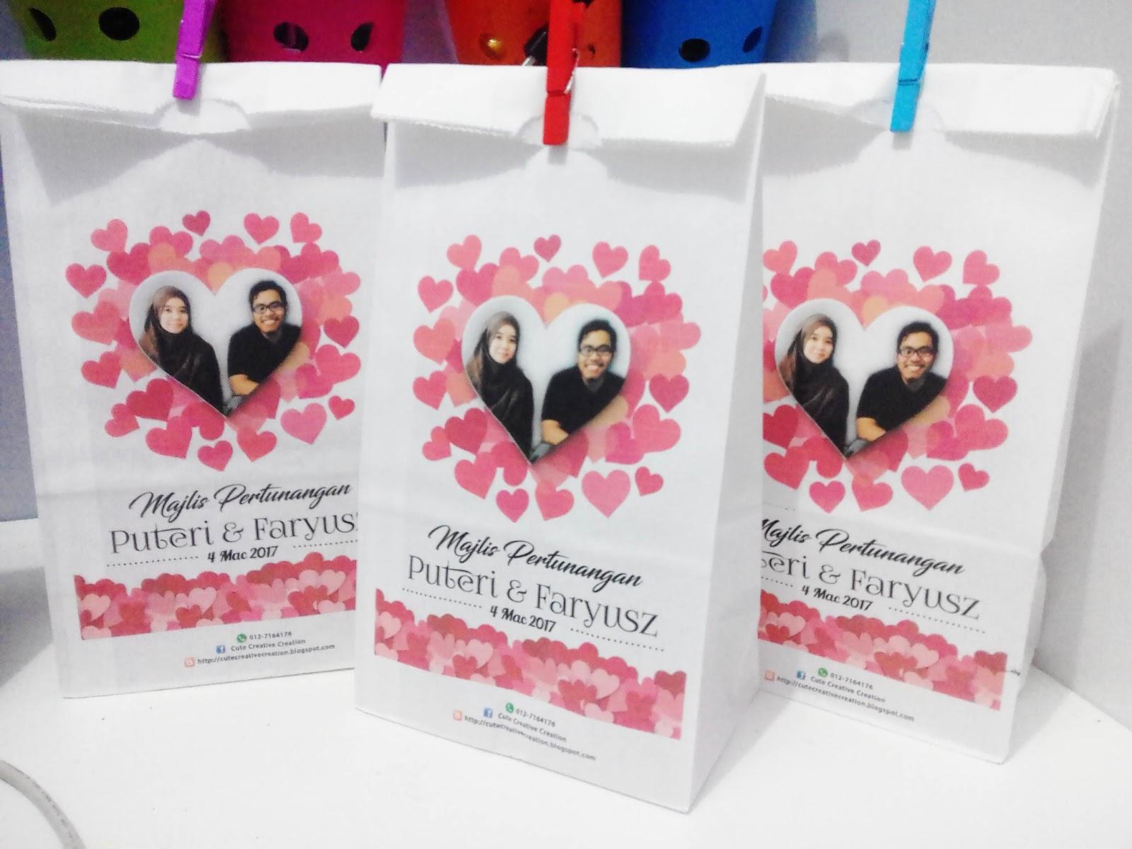 Wedding goodies bag for Idea doorgift untuk aqiqah