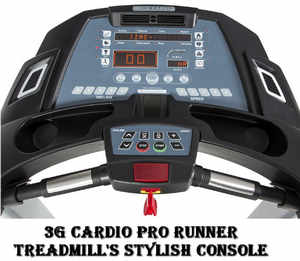 3g cardio pro runner treadmill console