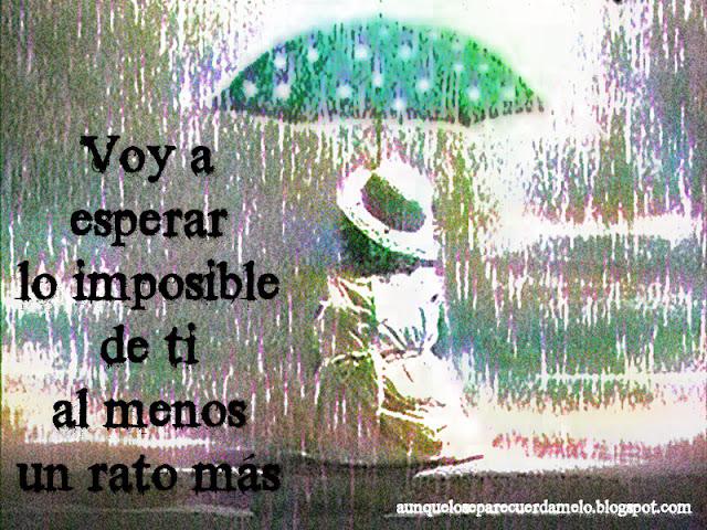 ilustracion niña bajo la lluvia esperando algo