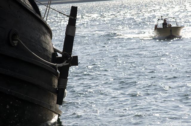 Galeón en el muelle de Ferrol