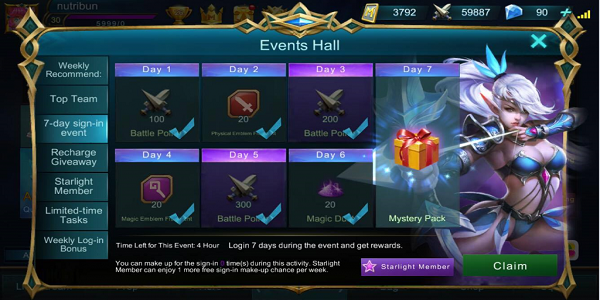 login dapet skin mobile legends