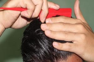 cara, menyisir,rambut