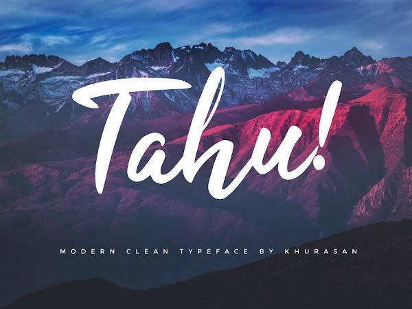 Tahu Clean Script Font Free Download