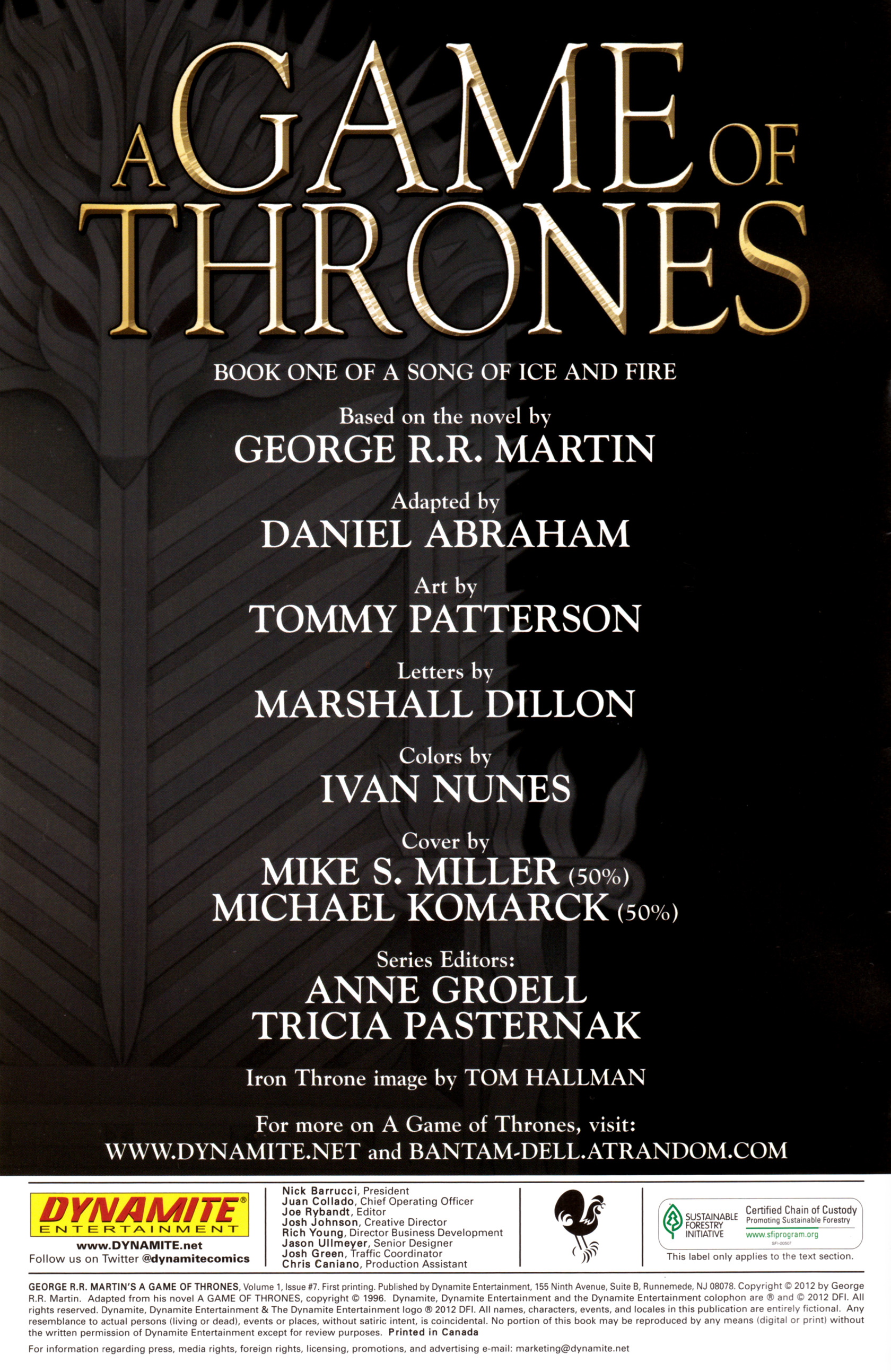 Read online A Game Of Thrones comic -  Issue #7 - 2