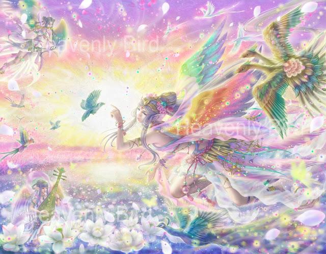 絢月星晶,天使,精霊,女神,妖精,ファンタジーイラスト、 スマホケース,マグカップ,空想,絵画