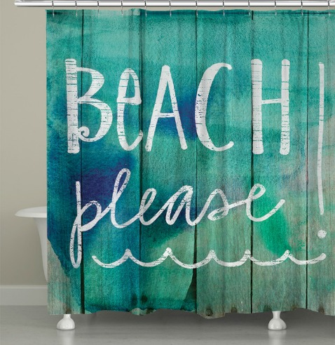 Beach Quote Shower Curtain