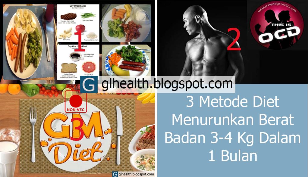 Cara Menurunkan Berat Badan Dengan 3 Metode Diet