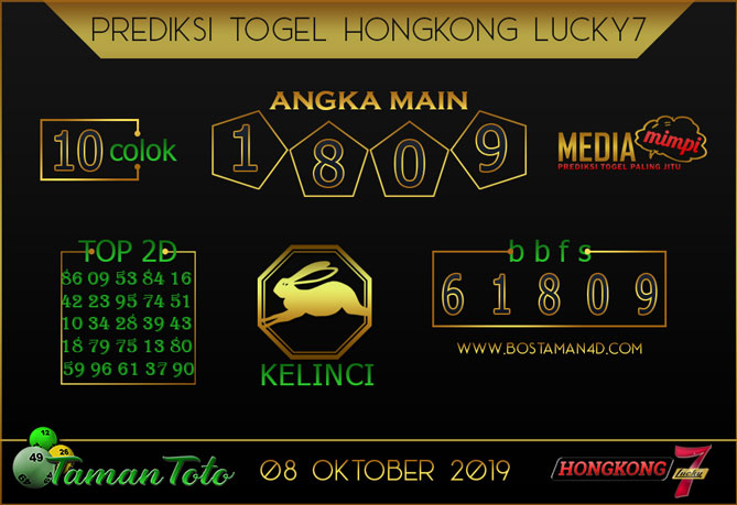 Prediksi Togel HONGKONG LUCKY 7 TAMAN TOTO 08 OKTOBER 2019