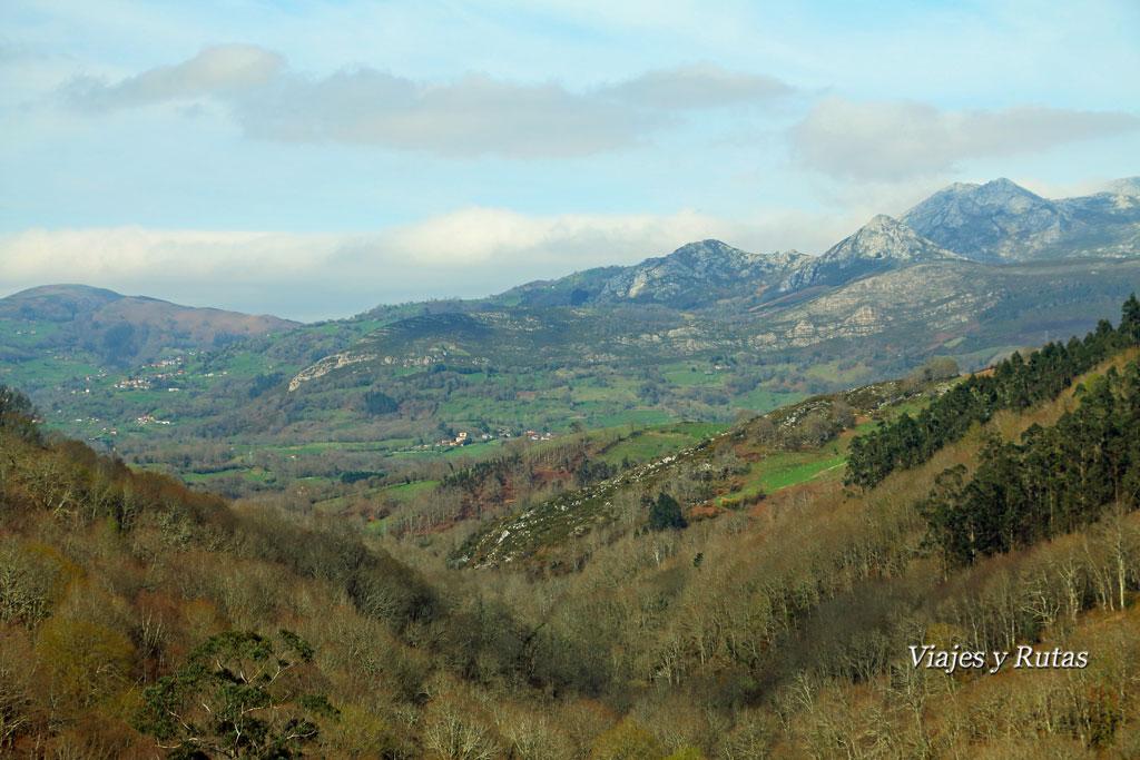 Paisaje de la Ruta del Chorrón, Asturias