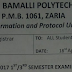 Nuhu Bamalli Poly 2016/17 1st & 3rd Semester Examination Schedule Out