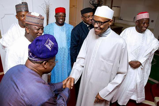 President Buhari meets with Governors in the U.K