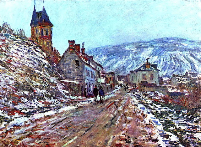 Claude Monet painting of winter