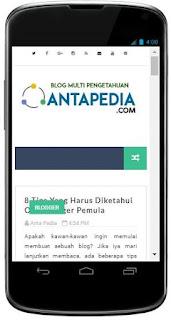 Cara memasang aplikasi Antapedia pada Smartphone